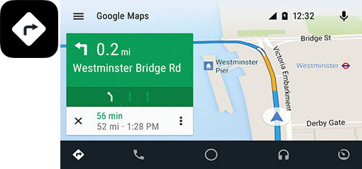 Android Auto Google Maps - Kenwood