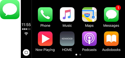 Apple CarPlay Messages - Kenwood